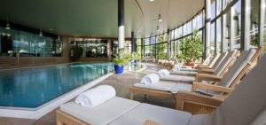 Montreux Palace indoor pool at Willow Stream Spa